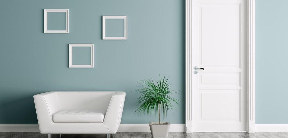 Interior with door and armchair