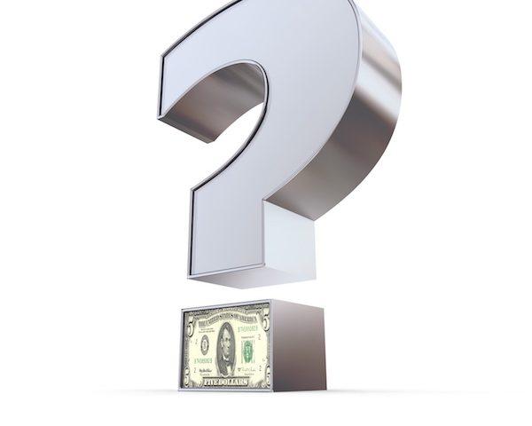 Metallic Dollar Question Mark