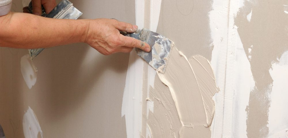 simple drywall repair before painting